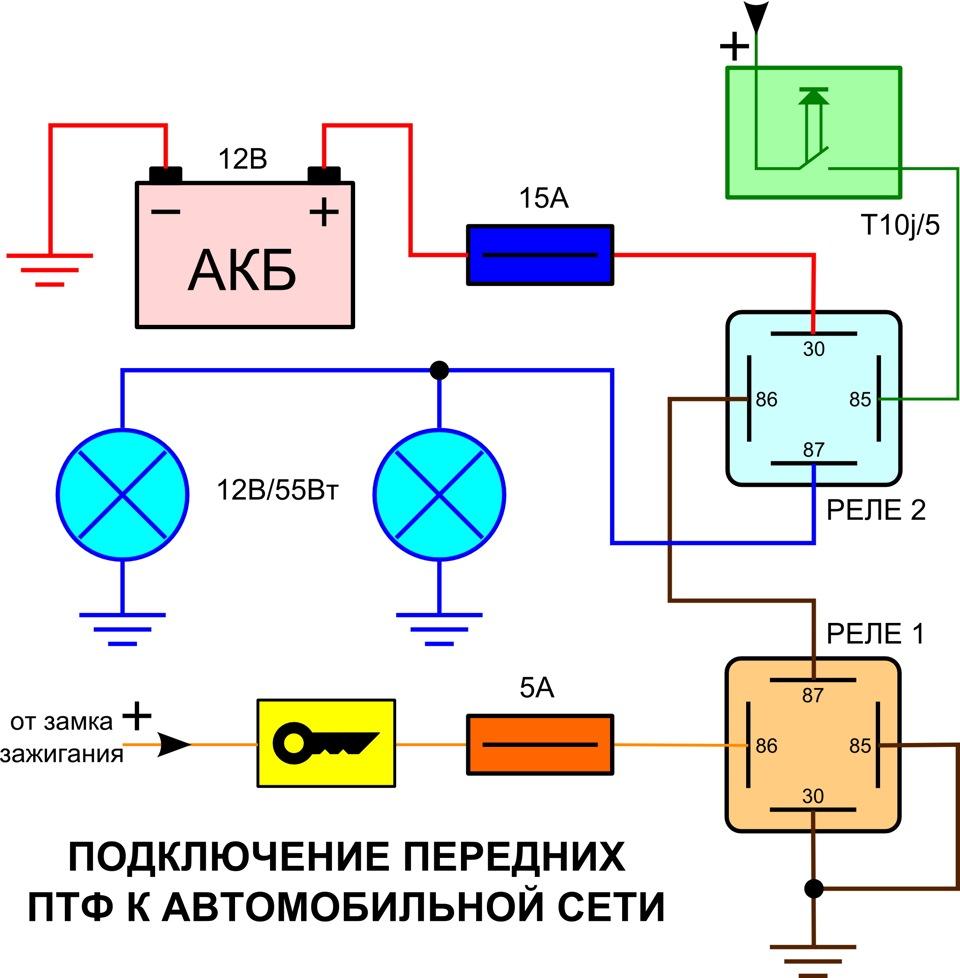 Подключение сигналов через реле схема 158