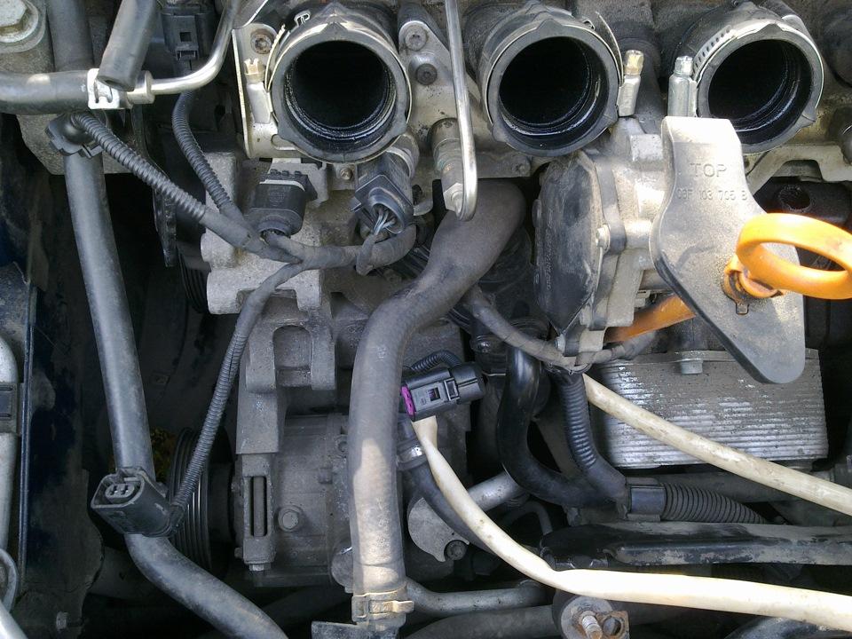 замена термостата audi 100 2,0 benz